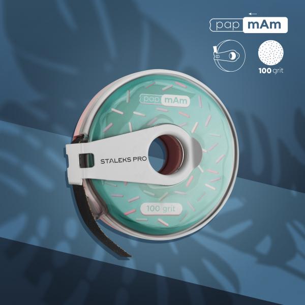 Сменный файл-лента в пластиковой катушке Bobbinail STALEKS PRO 100 грит (8 м)
