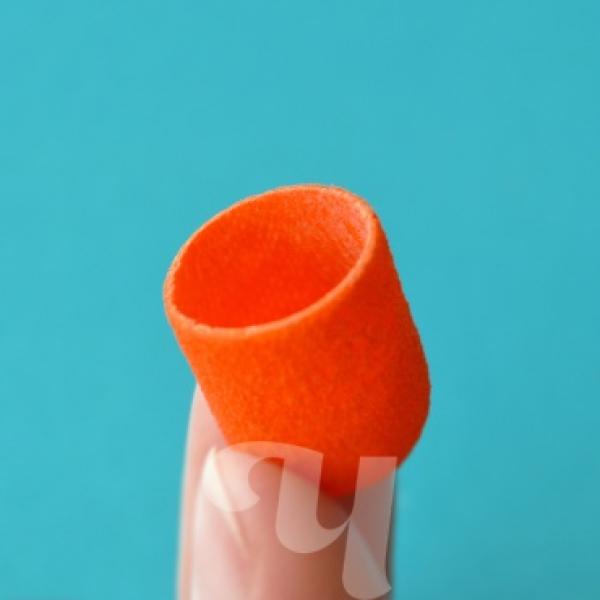 Стерильный песочный колпачок оранжевый (пластиковая основа)