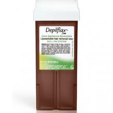 Воск Depilflax Шоколад (широкий ролик, 1 кассета)