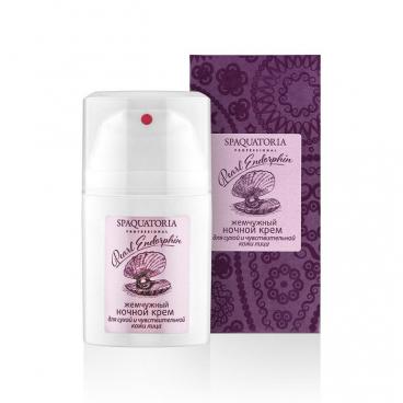 Ночной Жемчужный крем для сухой и чувствительной кожи СПА (50мл/шт)