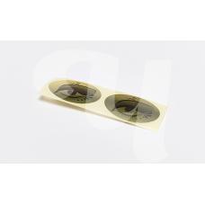 Наклейка на глаза для солярия (фольга, 100 пар)