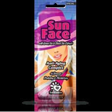 Крем SunFace для лица с экстрактами черного и зеленого чая и бронзаторами, 15мл