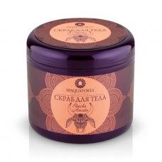 Скраб для тела с тростниковым медом, маслом гхи, эфирным маслом розы и карите