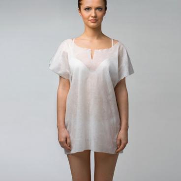 Рубашка без рукавов (Спанлейс, белый, 25 шт/упк)