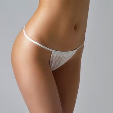 Трусики-бикини женские (Спанбонд, белые, 44-48, 25 шт/упк)