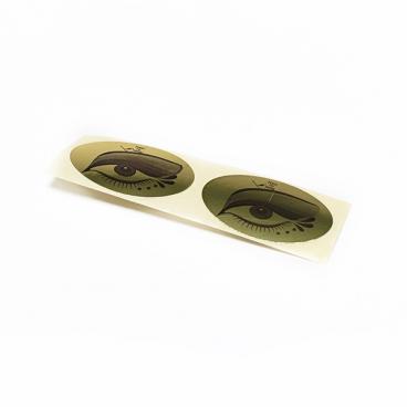 Наклейка на глаза для солярия (16 мкр, золотой, 100 пар)