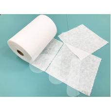 Безворсовые салфетки в рулонах Спанлейс, белые
